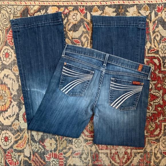 7 For All Mankind Denim - 7FAM Dark Wash Dojo Jeans